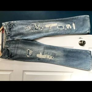 X2 Denim 31/32 Worn patched Jeans